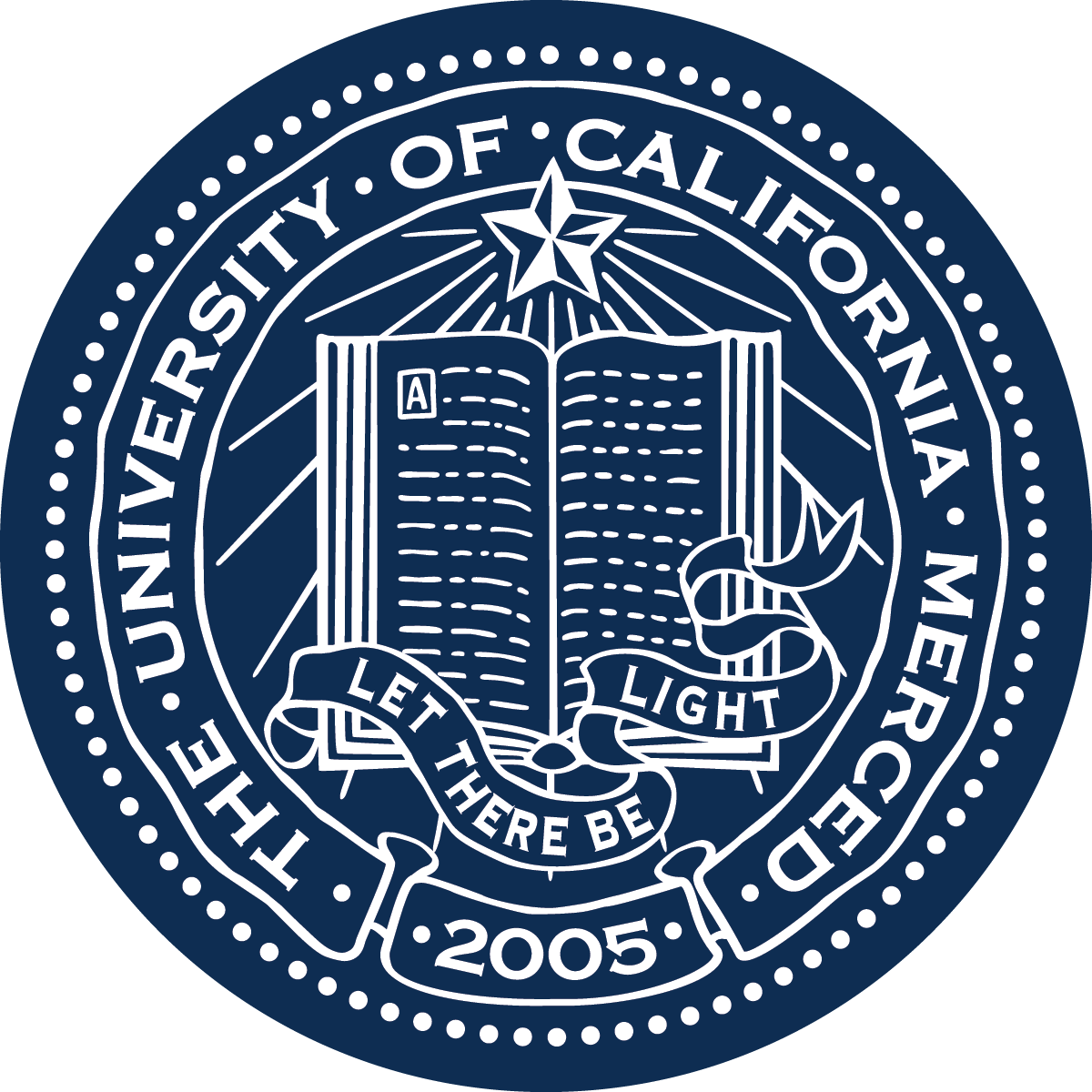 UC Merced Seal - White