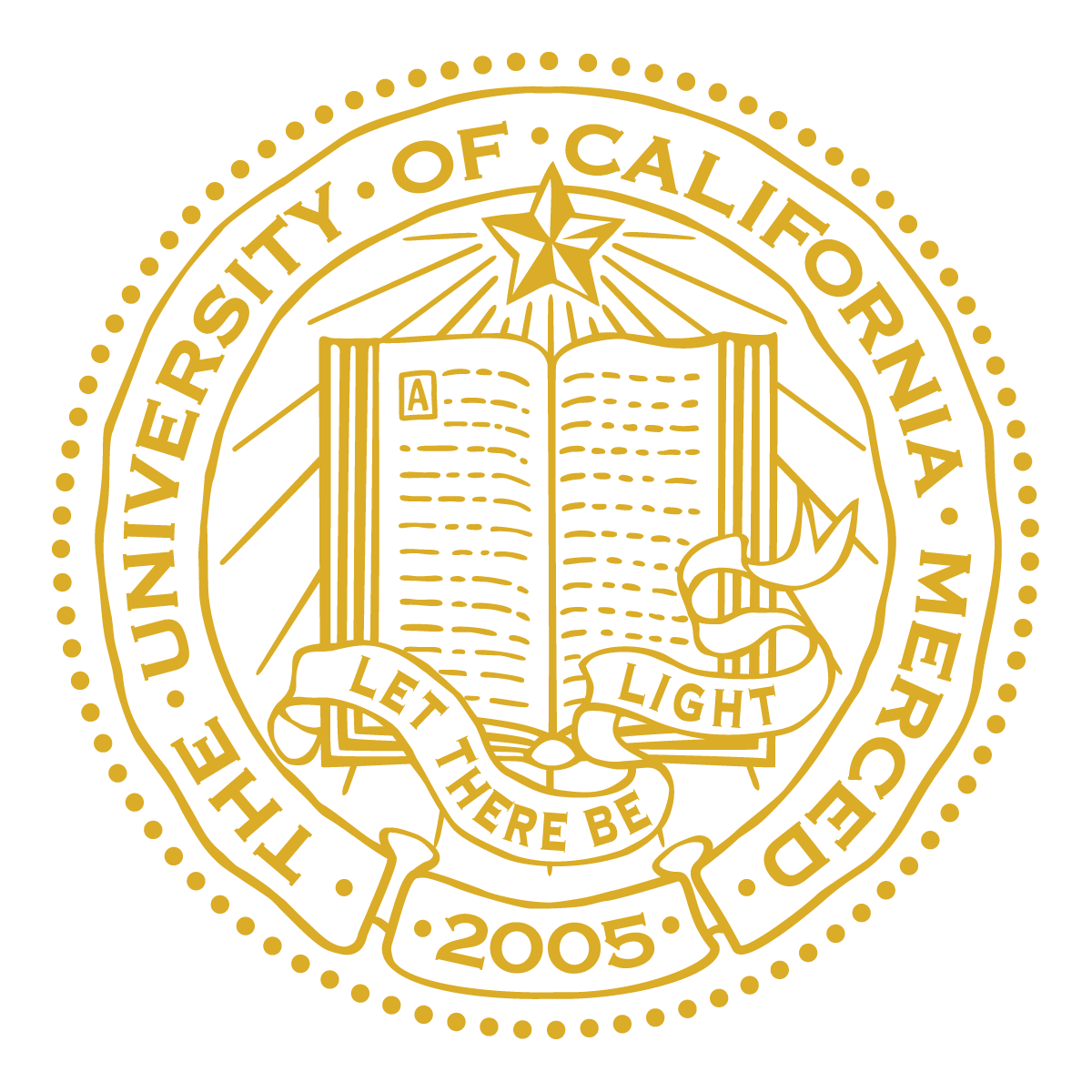 UC Merced Seal - Poppy Gold